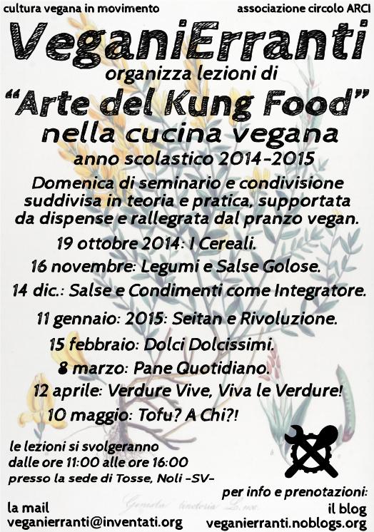 lezioni di arte del kung food nella cucina vegana anno scolastico 2014 2015